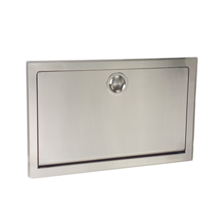 Recessed Stainless Steel Horizontal Baby Changing Station