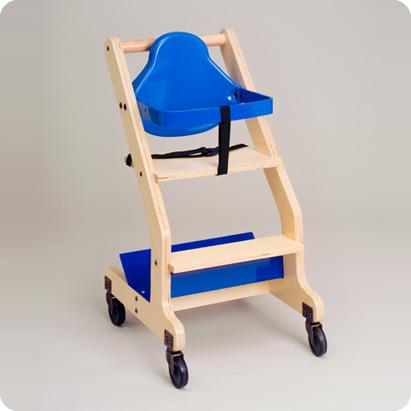 High Chair Hard Wood Blue Koala Kare